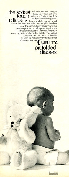 1970 CURITY diapers: US (half page McCalls)