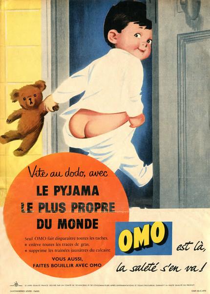 1957 OMO detergent: France (Paris Match)