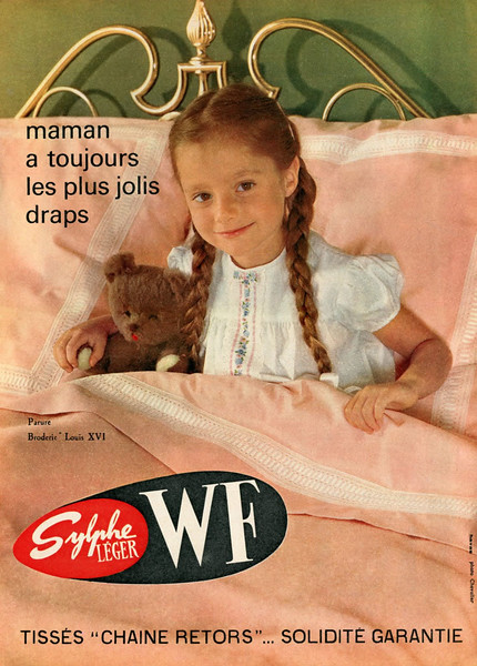 1961 WF Sylphe Léger bed clothing France (Marie Claire)