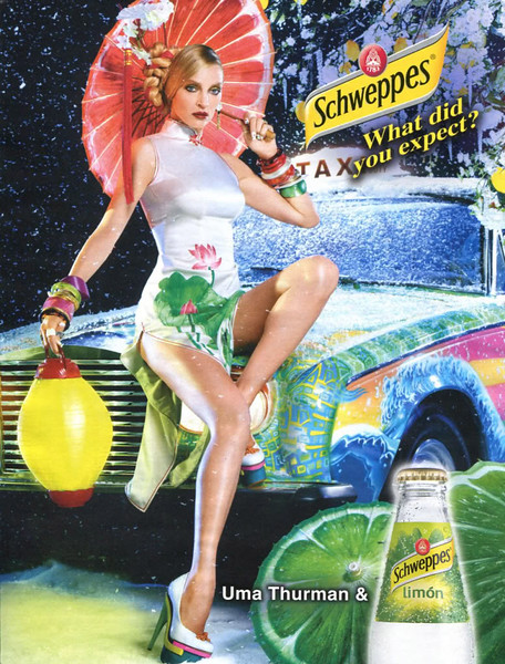 2011 SCHWEPPES soft drink Spain (Elle) featuring Uma Thurman