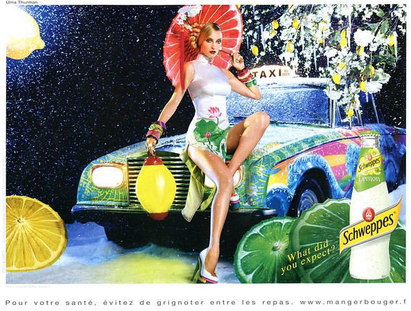 2011 SCHWEPPES soft drink France (Ciitizen K) featuring Uma Thurman