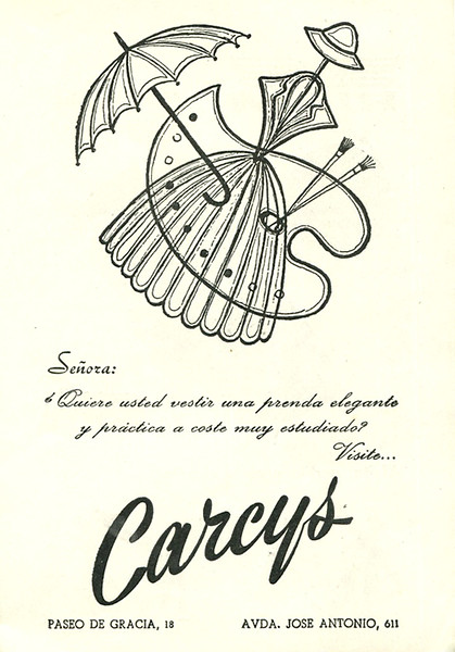 1959 CARCYS clothing store Spain (El Liceo)