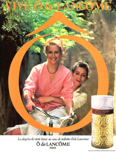 Ô de LANCÔME 1980 Spain 'Vive Ô de Lancôme - La alegría de vivir tiene su eau de toilette: Ô de Lancôme - De venta enperfumerías especializadas'