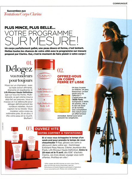 2010 CLARINS slimming creams Ffance (Elle)
