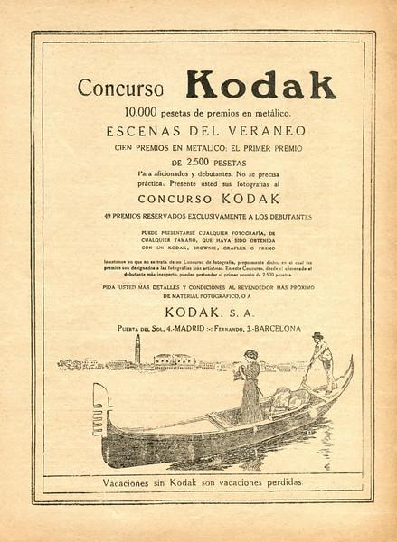 1921 KODAK photocameras Spain (Blanco y Negro)