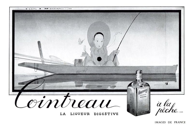 1941 COINTREAU liquor France (half page Images de France)