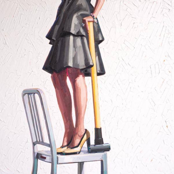 On Strike-Kelly, 60x60 oil painting