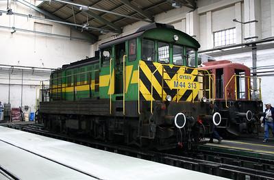 GySEV, M44 313 at Sopron Depot on 2nd October 2004.