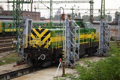 GySEV, M40 402 at Sopron Depot on 2nd October 2004