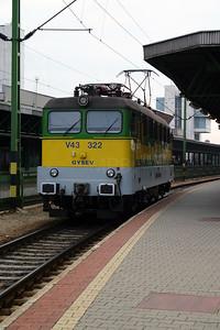 GySEV, V43 322 at Sopron on 2nd October 2004