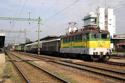 GySEV, V43 328 at Sopron on 2nd October 2004
