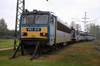 V63 012 at Dombovar Depot on 30th September 2004
