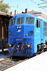 2) 666 003 at Dimitrovgrad on 9th September 2005 working ADL Railtour