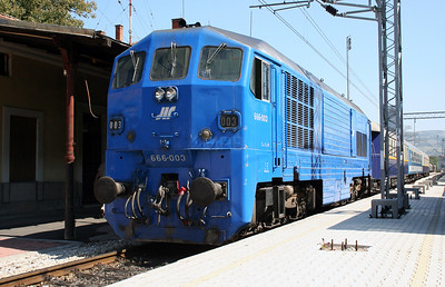 3) 666 003 at Dimitrovgrad on 9th September 2005 working ADL Railtour