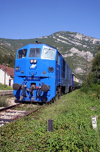 1) 666 003 at Ostrovica on 9th September 2005 working ADL Railtour