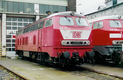 218 270 at Trier Depot on 24th November 2001