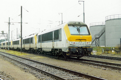 SNCB, 1344 at Luxembourg Depot on 24th November 2001
