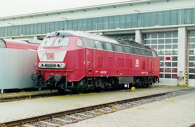 218 130 at Trier Depot on 24th November 2001.