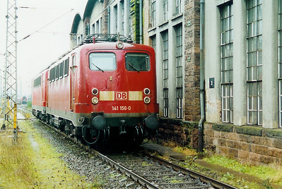 141 156 at Trier Depot on 24th November 2001