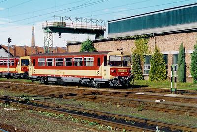 Bzmot 267 at Szombathely Depot on 5th October 2003
