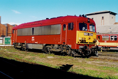 M41 2214 at Szombathely Depot on 5th October 2003