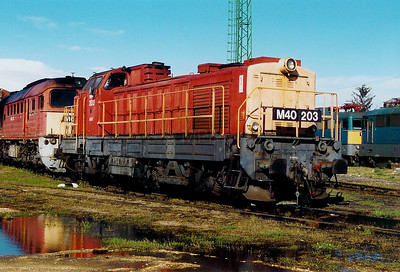 M40 203 at Szombathely Depot on 5th October 2003