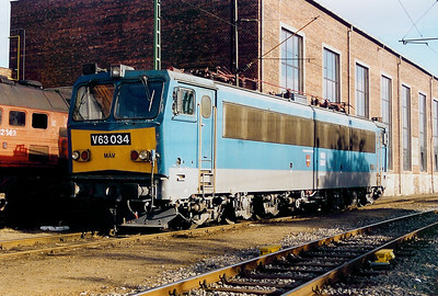 V63 034 at Ferencvaros Depot on 7th October 2003