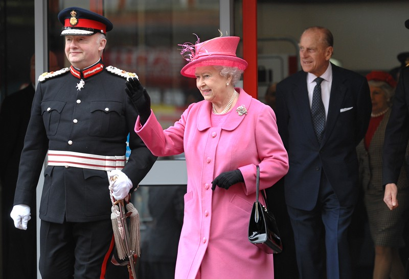 HRH The Queen and The Duke of Edinburgh at Wigan North Western Railway Station at the start of her visit to Wigan.  Picture by Nick Fairhurst/©Johnston Press