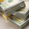 Stacks of Newly Designed One Hundred Dollar Bills