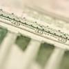 Macro of Five Dollar Bill Back