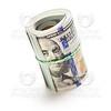 Roll of Newly Designed One Hundred Dollar Bills