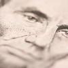 Macro of Five Dollar Bill's Lincoln