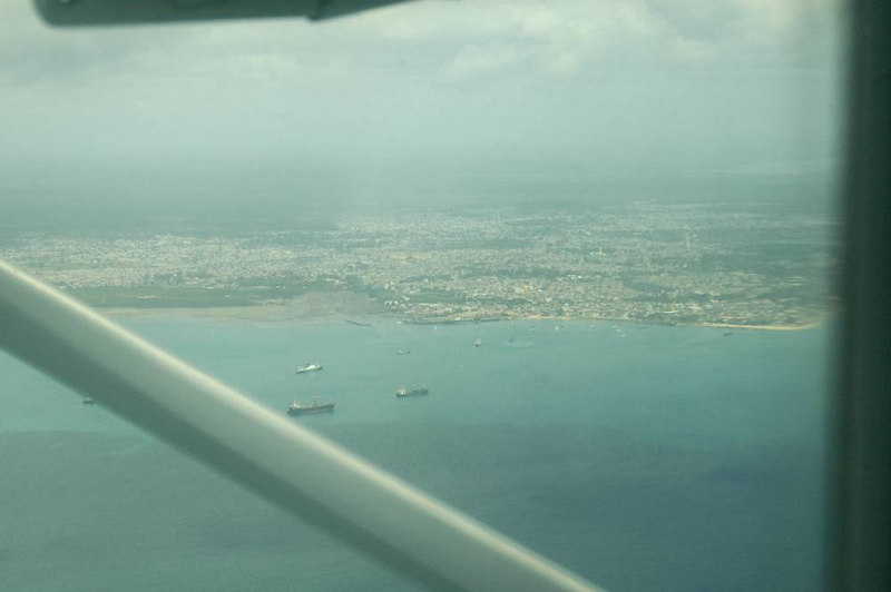 x_02 approaching Zanzibar by air