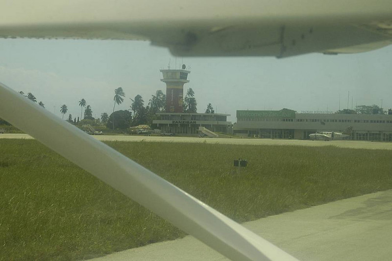 x_12 on the taxiway at Zanzibar airport