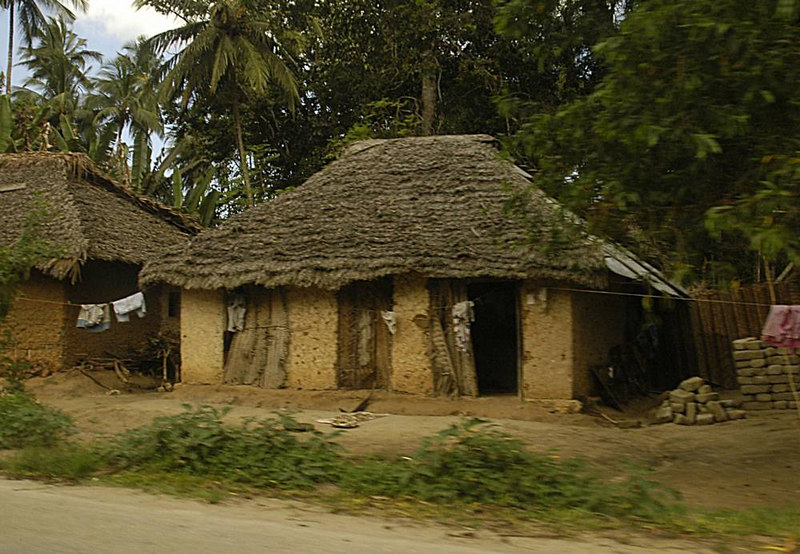 x_38 traditionally built homes along the road
