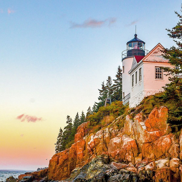 Sunrise in Bass Harbor Head Lighthouse