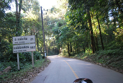 Took some smaller roads on the way down. The lanes are really narrow here, but not much traffic.