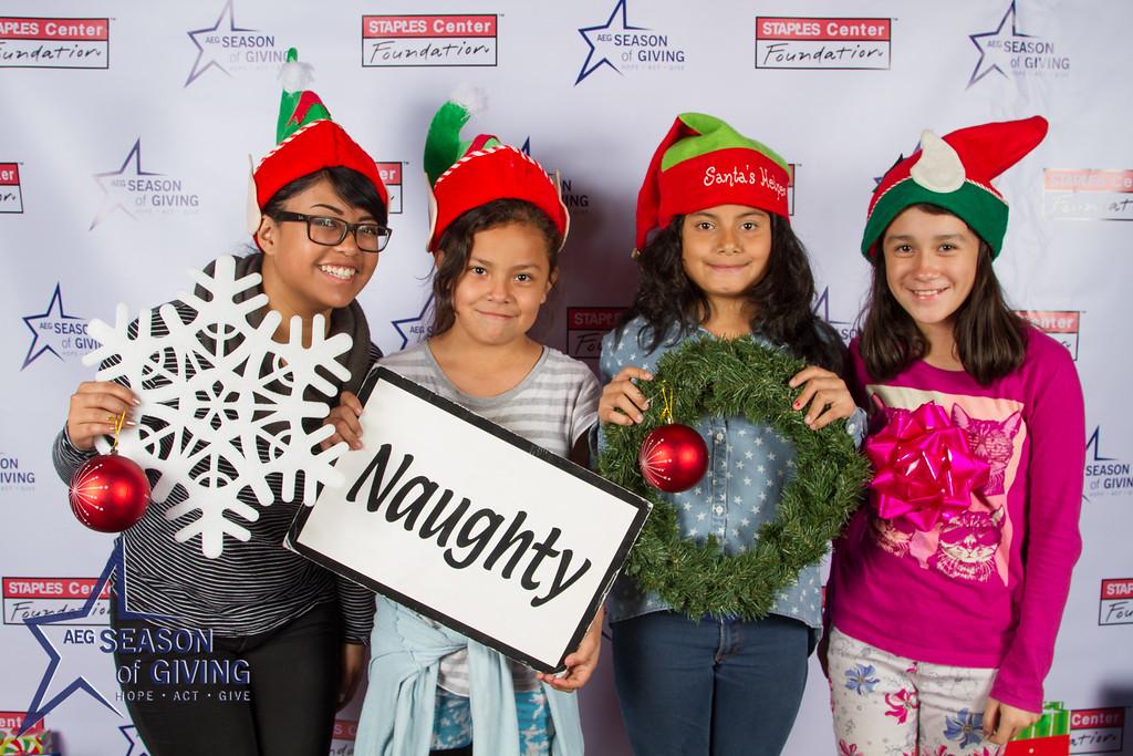 2015 AEG Season of Giving at Lucky Strike Live.  Staples Center Foundation
