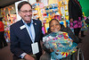 Suwanee Mayor Jimmy Burnette and Isaac Afolabi, 5, Duluth
