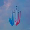 Ressource effectuée par la Patrouille de France sur Alpha Jet<br /> Sur la Base 112 de Reims, le 28 juin 2009, lors du Meeting du Centenaire, une manifestation aérienne « historique » organisée pour commémorer les cent ans de la Grande Semaine d'Aviation de la Champagne, premier meeting international d'aviation de l'histoire