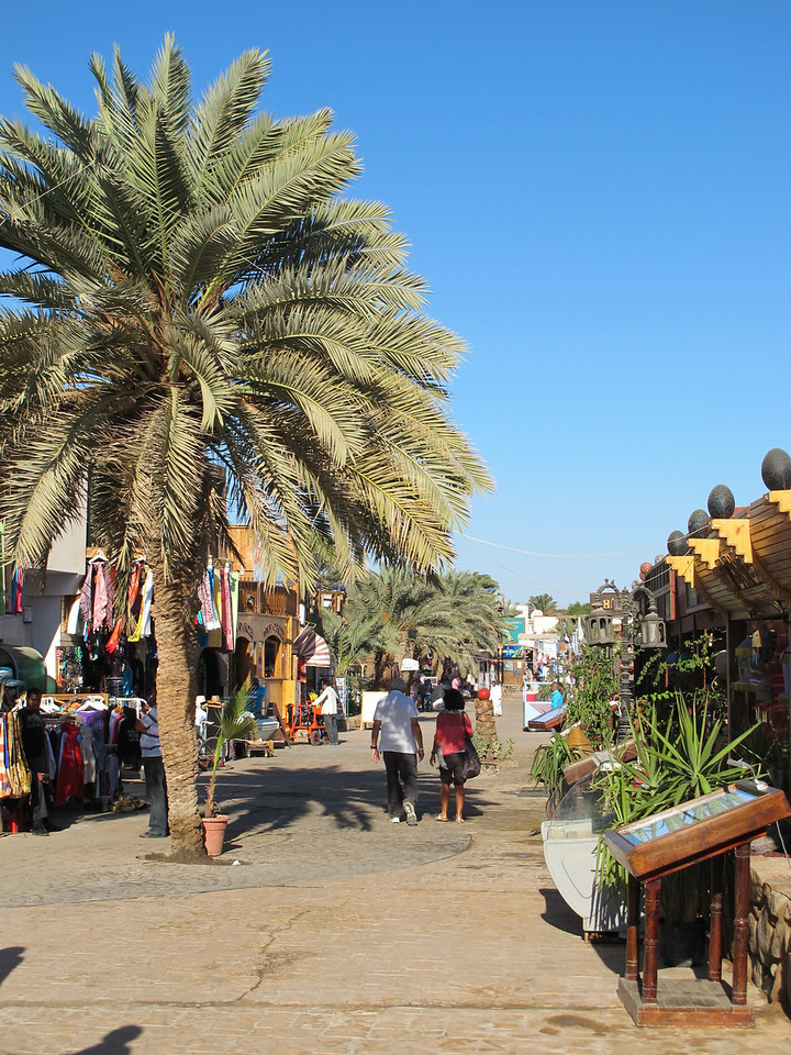 Most of the commercial activity is along the beach, where there's a long winding promenade to stroll down.