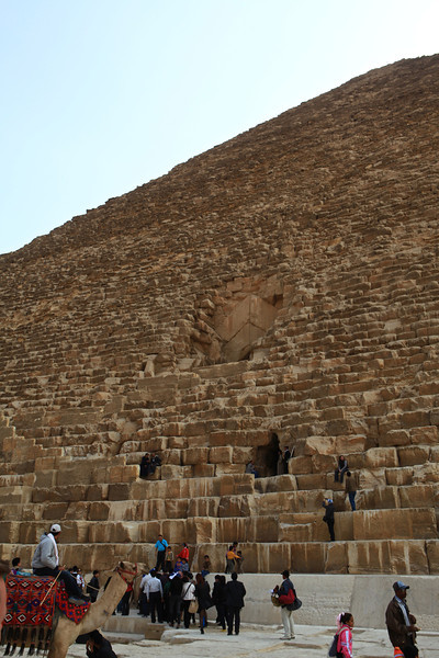 You are allowed to go inside to one of the chambers in the Great Pyramid.