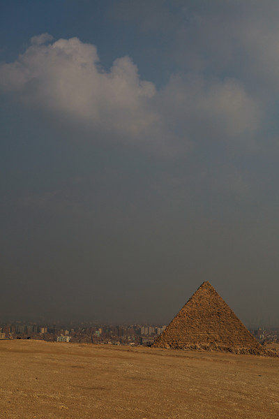 The pyramids were popularised in Hellenistic times, when the Great Pyramid was listed by Antipater of Sidon as one of the Seven Wonders of the World. It is by far the oldest of the ancient Wonders and the only one still in existence.