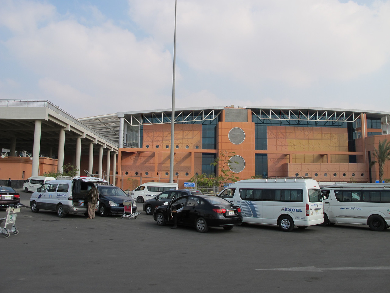 The international terminal at the Cairo airport.