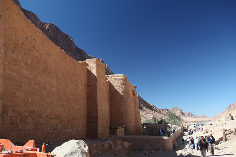 The walls provided the monks with protection from hostile forces that would cross the area, and enshrined within the church built at the site of the Burning Bush.