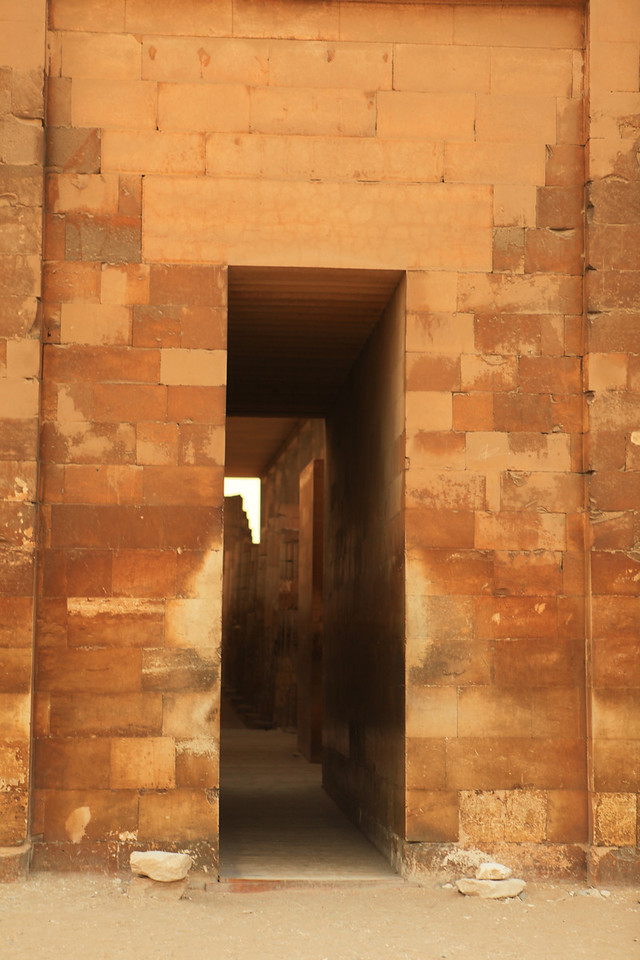 This is a recreated entry in the wall, to inside the complex.
