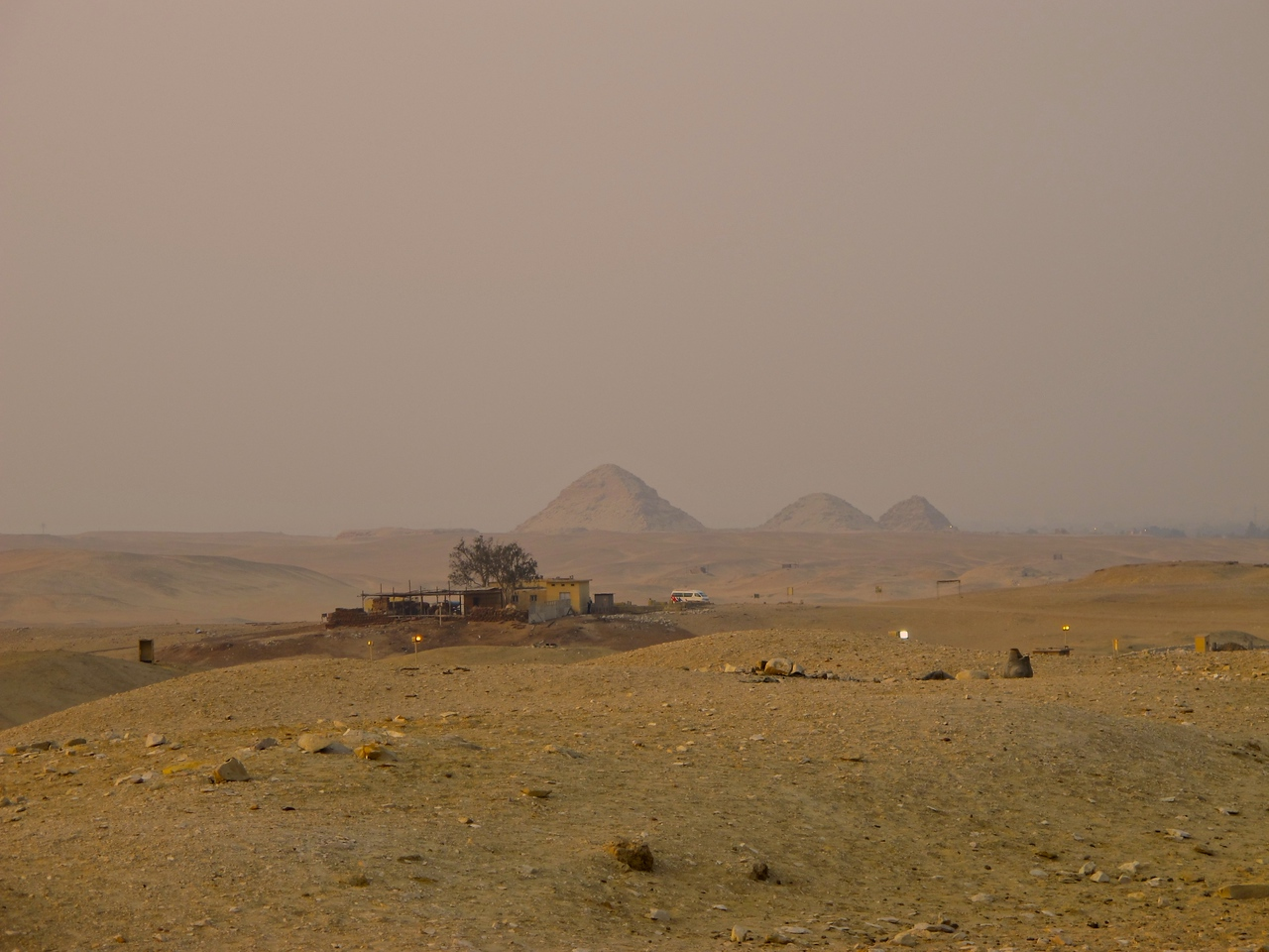 There are many other step pyramids at Saqarra.