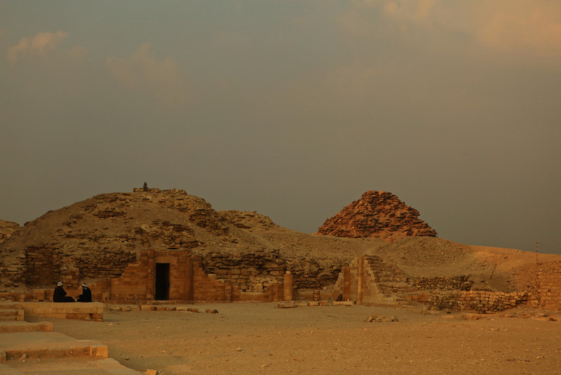In the foreground is the House of the South.  It was a chapel. Behind , you'll see the Pyramid of Userkaf.  He was the founder of the 5th Dynasty in Egypt.