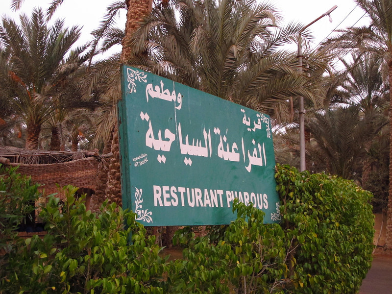 Right outside the Saqarra complex in the Restaurant Pharous.