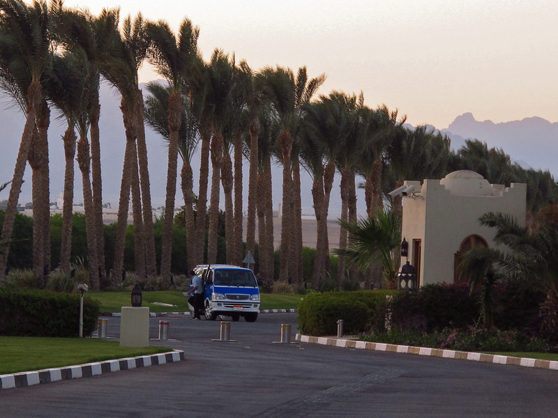 Most resorts in Sharm take security very seriously.  Most resorts do not allow taxis or non-hotel vehicles near the property.  The Four Seasons keeps outside vehicles at least 350 yards away and any vehicles that are allowed on the property are searched.